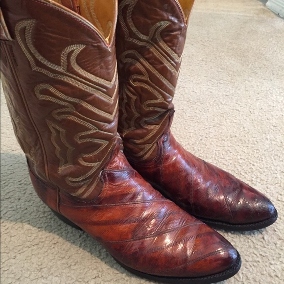 c08335e7f7c Tony lama- Eel skin cowboy boots